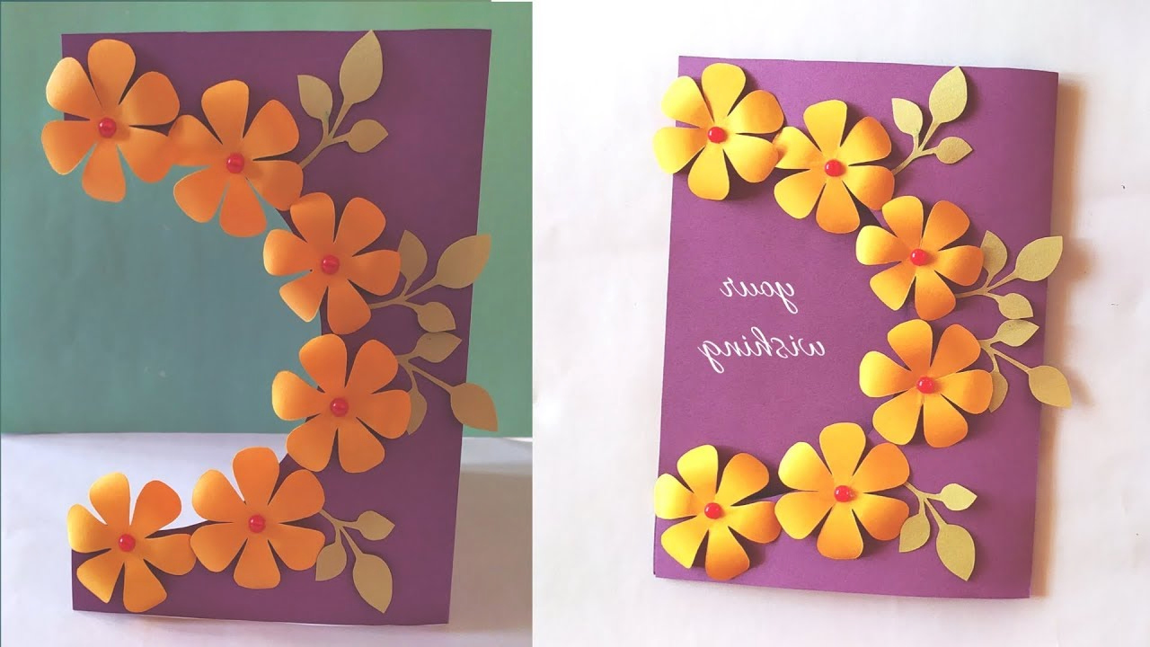 Handmade Card Idea For Birthday Teacher s Day