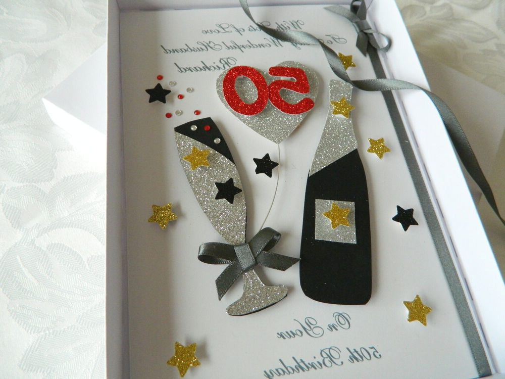 Handmade Personalised Birthday Card Boyfriend Husband Dad