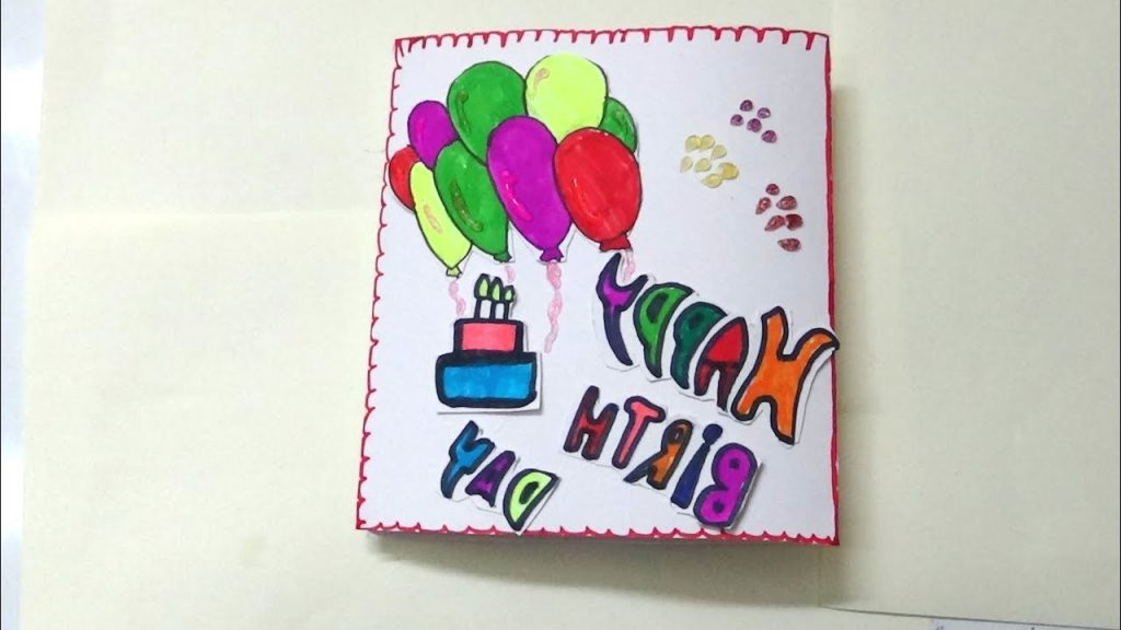 HOW TO MAKE SIMPLE BIRTHDAY CARD FOR KIDS KIDS ART AND