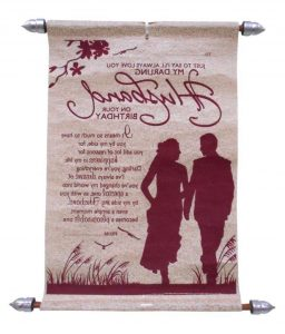 Husband Birthday Scroll Card Buy Online At Best Price In