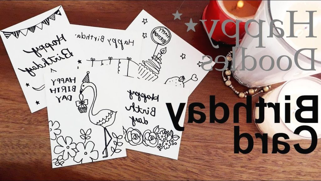 Making Mini Birthday Cards simple Drawing Doodle With