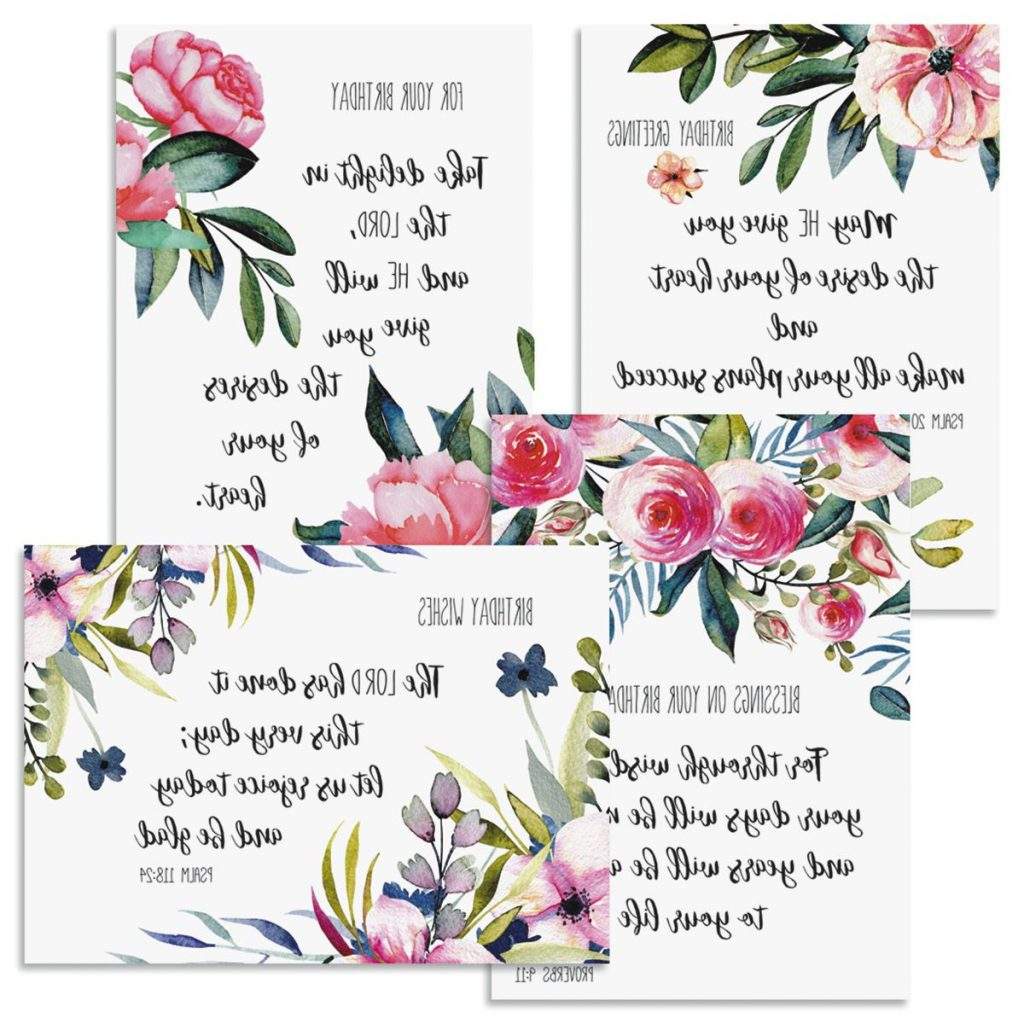 Simple Floral Birthday Greeting Cards And Seals Current
