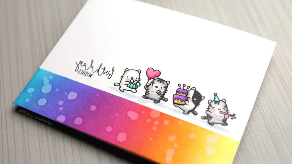 SO MANY CATS Clean Simple Birthday Card YouTube