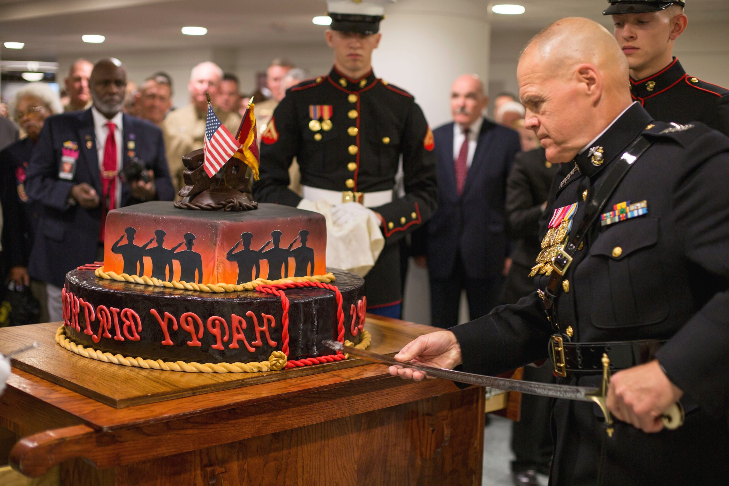 The Marines Top General Spent A Week Cutting Cake And