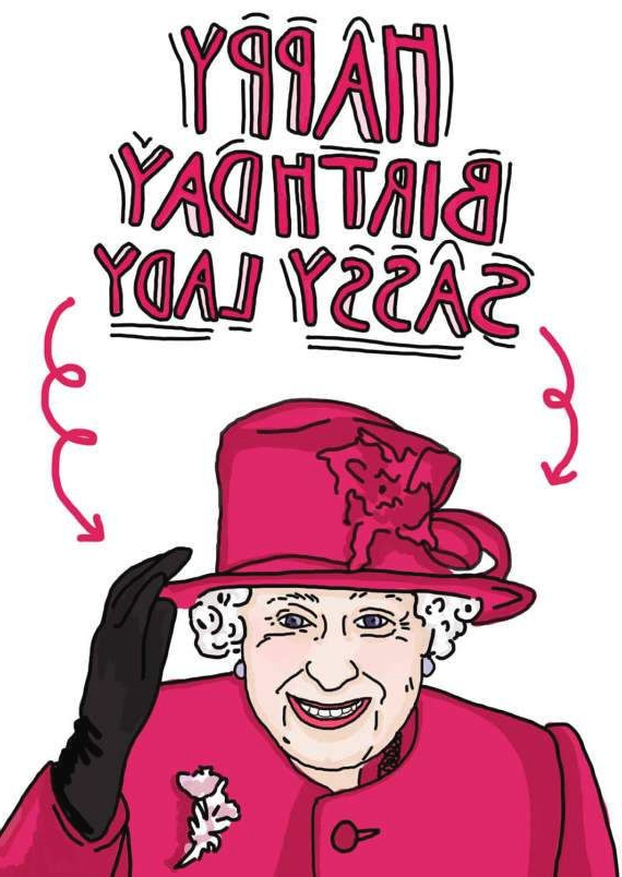 Happy Birthday Peasants Funny Queen Elizabeth Card