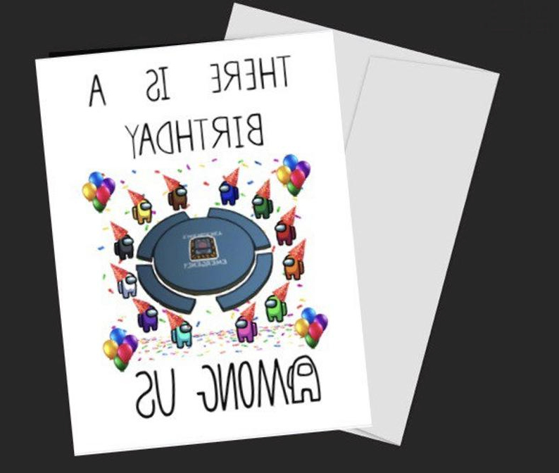 Among Us Birthday Card Imposter Birthday Card Etsy